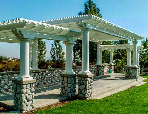 Aluminum patio covers alumawood diy kits shipped nationwide for House columns prices