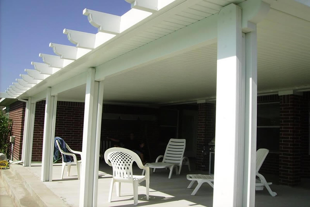 Pool Side Patio Cover Outdoor Living Area