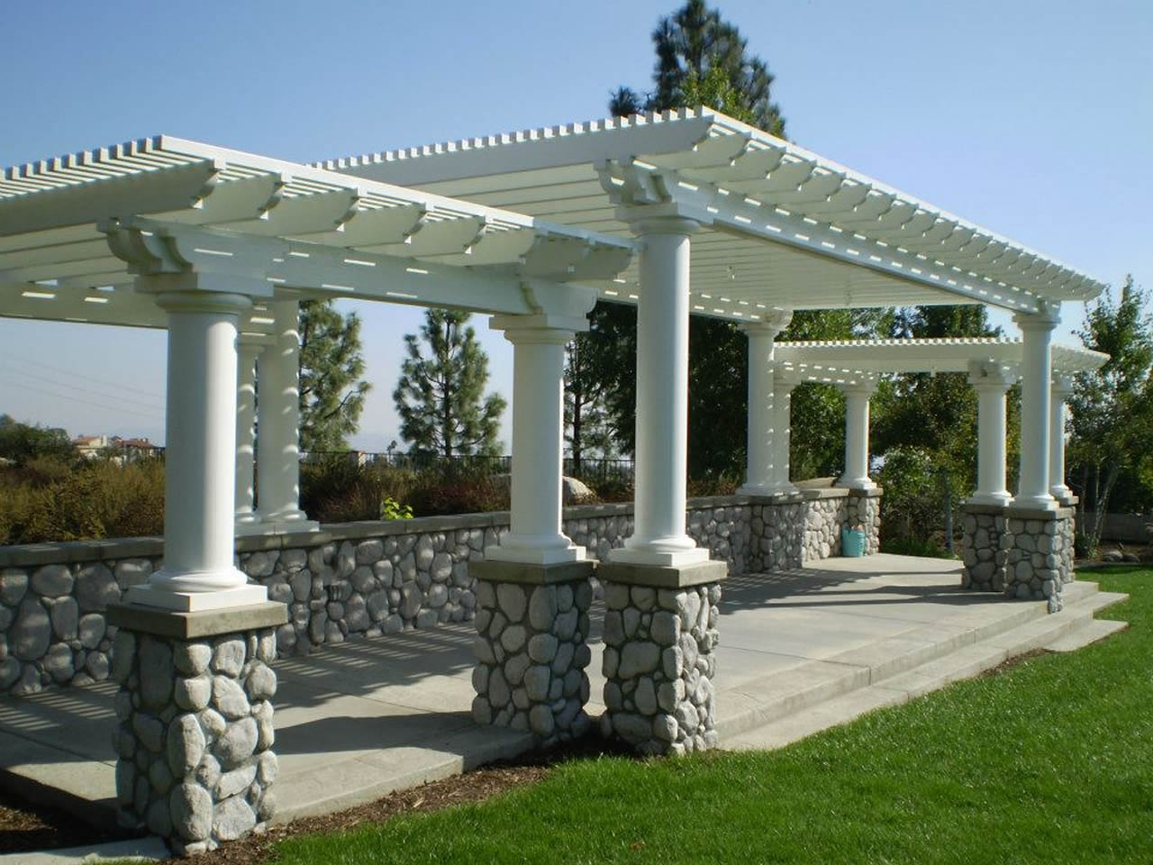 Freestanding Alumawood Patio Covers : Alumawood pergola lattice photo gallery