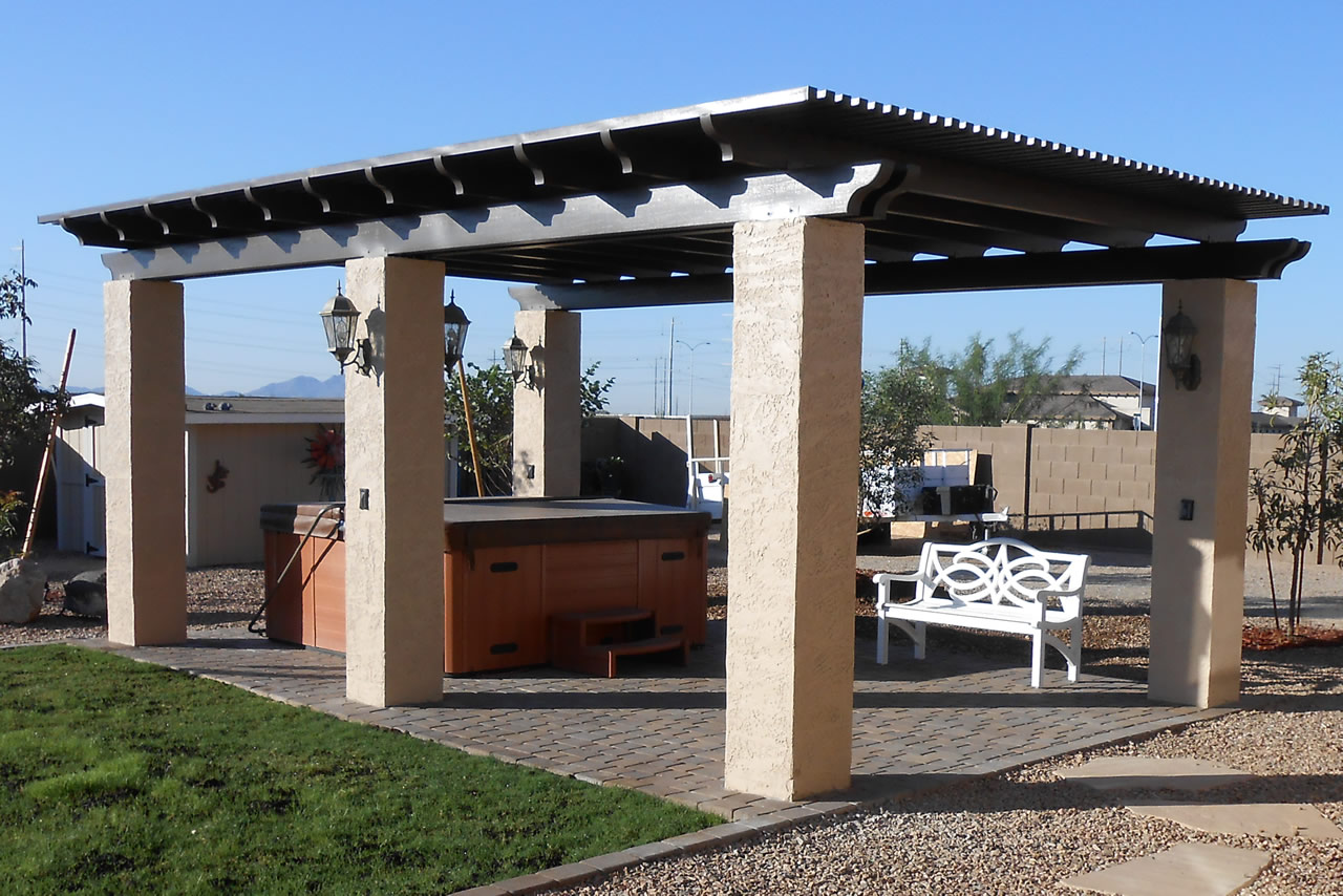 Alumawood Pergola Lattice Photo Gallery
