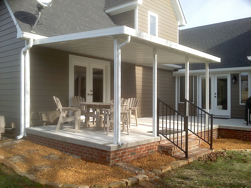 Pictures of DIY Installed Traditional Aluminum Patio Covers