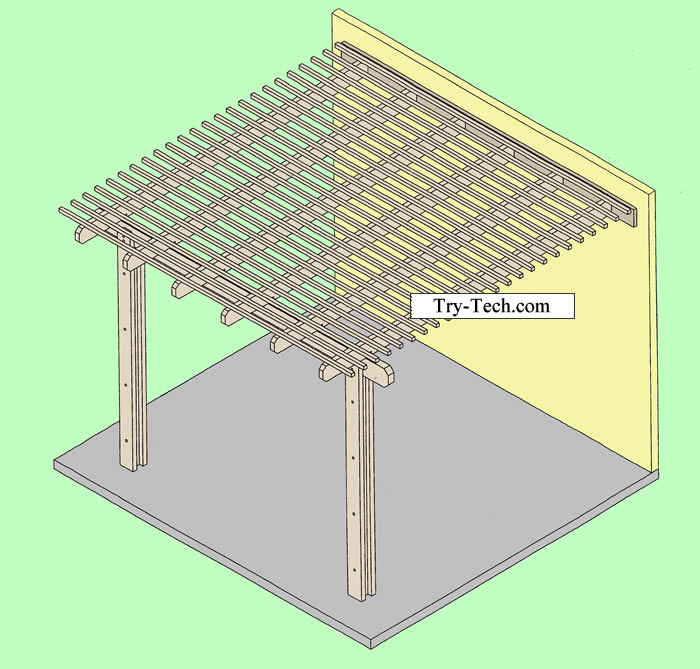 Parts photos for alumawood arbor lattice for Parts of a pergola