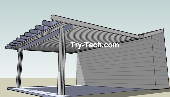 Pin patio covers pics on pinterest for Patio cover drawings
