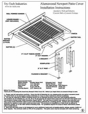 Amerimax Instructions for Alumawood Newport Patio Covers