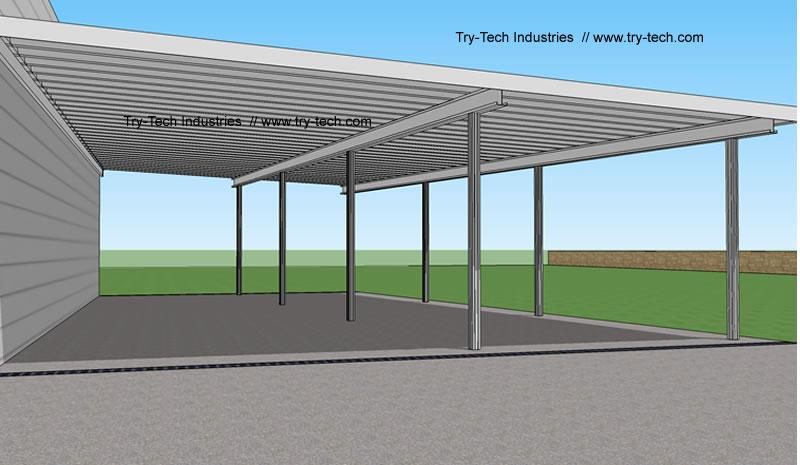 Traditional aluminum patio cover kits aluminum patio covers for Patio cover drawings