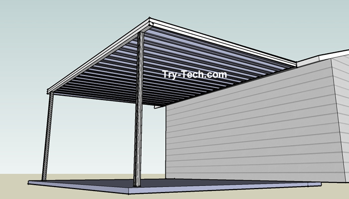 Deck Roof Kits Traditional Aluminum Patio Cover Kits Aluminum Patio Covers