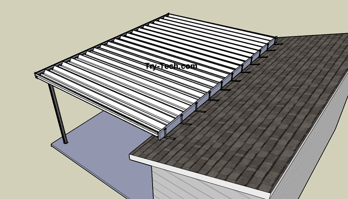 Mirrasheds How To Build A Shed Roof Over An Existing Deck